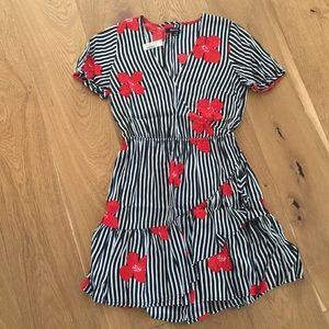 Madewell Bianca Ruffle Wrap Dress, size 2